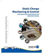 Static charge and control for backend semiconductor manufacturing